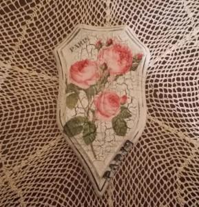 Decoupage - deseczka z różami